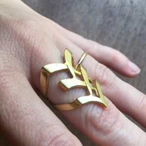 Jewelry - Geometric brass cast ring